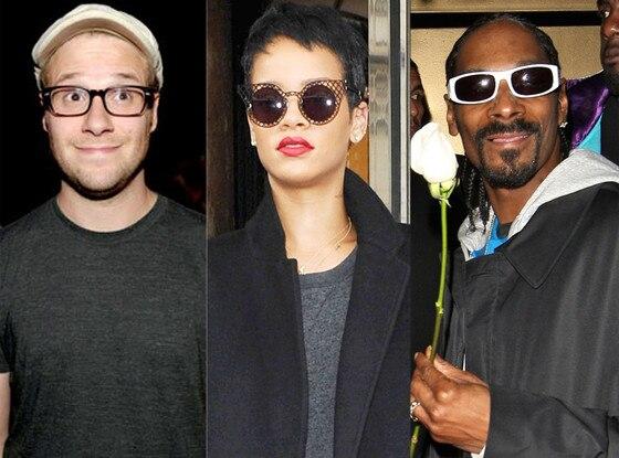 Seth Rogen, Rihanna, Snoop Dogg