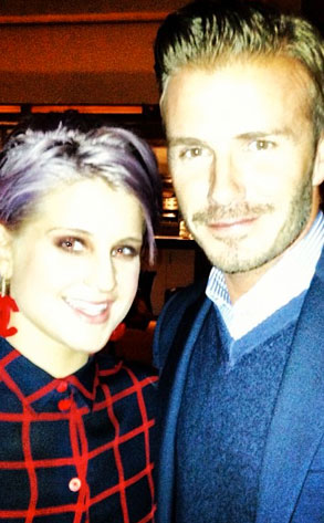 Kelly Osbourne, David Beckham