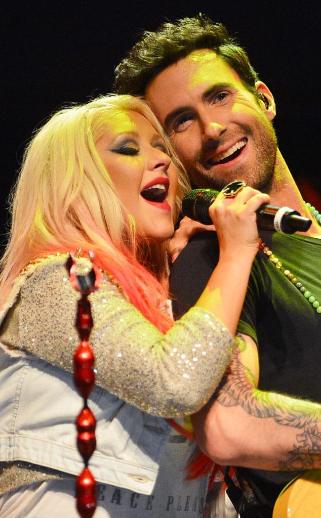 Christina Aguilera, Adam Levine