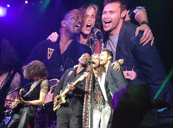 Randy Jackson, Steven Tyler, Ryan Seacrest, Aerosmith