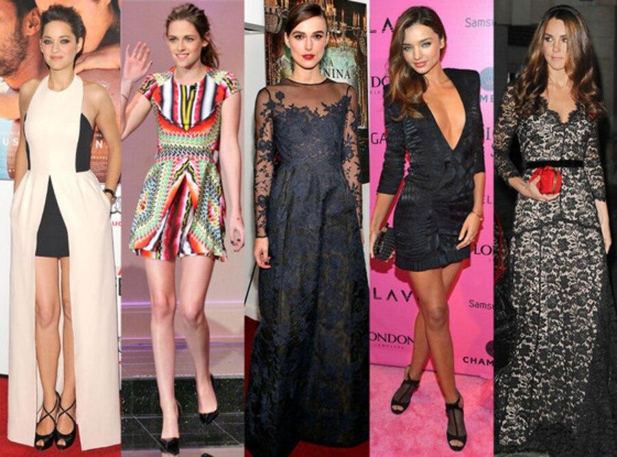 Marion Cotillard, Kristen Stewart, Keira Knightley, Miranda Kerr, Kate Middleton