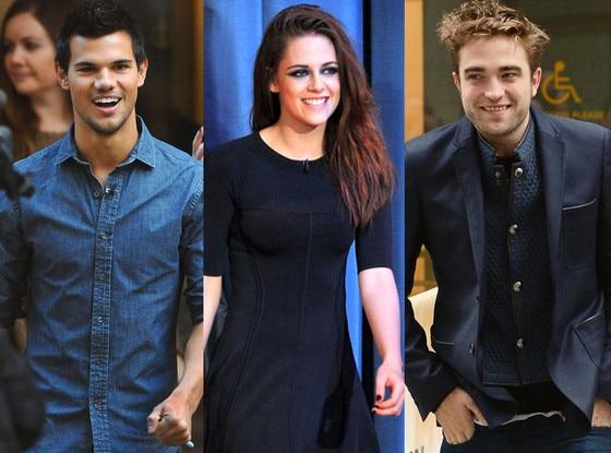 Robert Pattinson, Taylor Lautner, Kristen Stewart