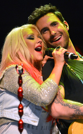 Christina Aguilera, Adam Levine, The Voice