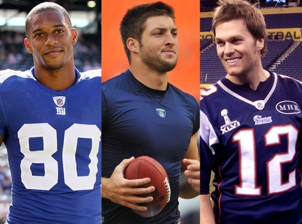 Tim Tebow, Tom Brady, Victor Cruz