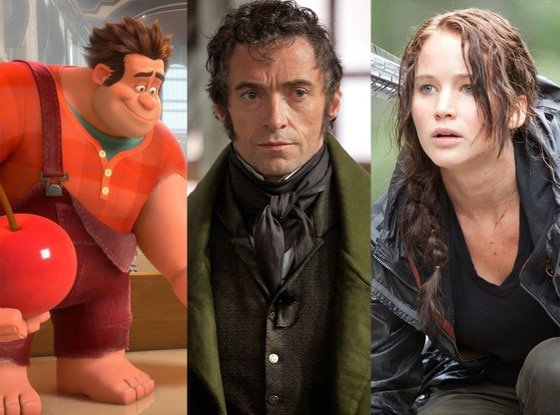 Wreck-It Ralph, Jennifer Lawrence, Hunger Games, Hugh Jackman, Les Miserables