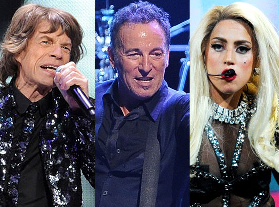 Rolling Stones, Bruce Springsteen, Lady Gaga