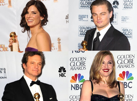 Sandra Bullock, Leonardo DiCaprio, Colin Firth, Madonna