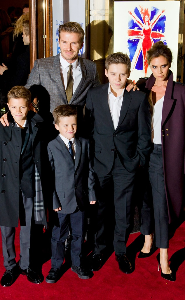 David Beckham, Victoria Beckham, Romeo, Cruz, Brooklyn