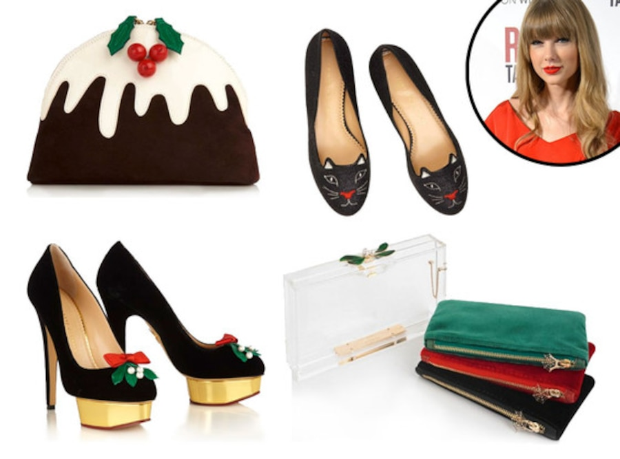 Taylor Swift, Charlotte Olympia Holiday Collection