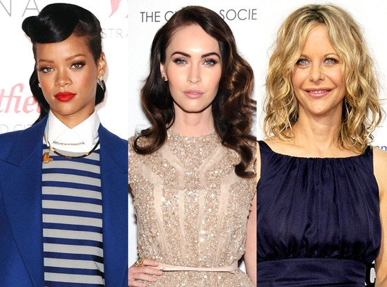 Rihanna, Meg Ryan, Megan Fox