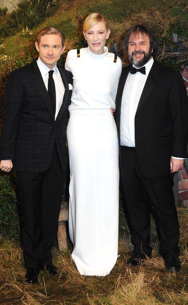 Martin Freeman, Cate Blanchett, Peter Jackson