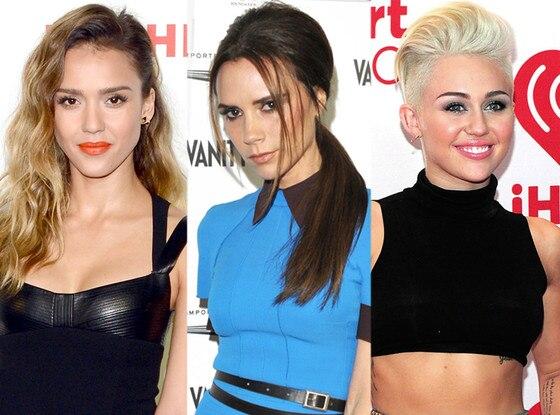 Jessica Alba, Victoria Beckham, Miley Cyrus - Split