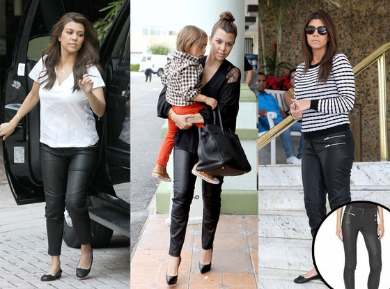 Kourtney Kardashian, Monica Chiang Moto Pants