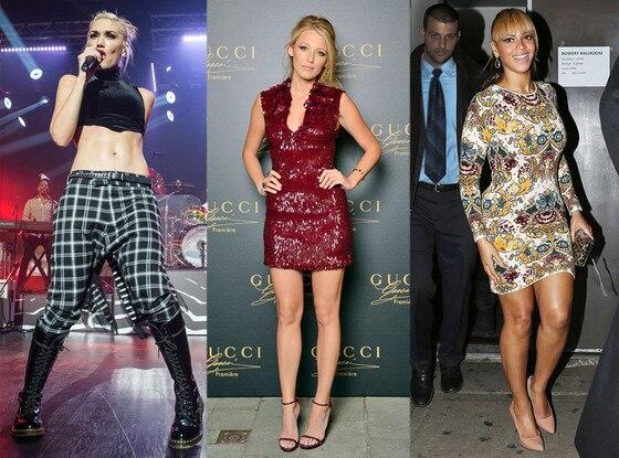 Gwen Stefani, Blake Lively, Beyonce