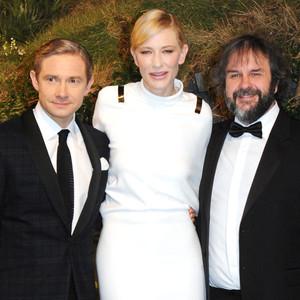 <i>The Hobbit</i> Royal Premiere: Martin Freeman, Ian McKellen Meet a Kate Middleton-less Prince William