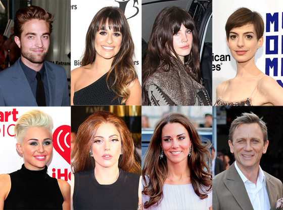 Celeb of the Year: Lea Michele, Anne Hathaway, Lana Del Rey, Lady Gaga, Kate Middleton, Miley Cyrus, Robert Pattinson, Daniel Craig