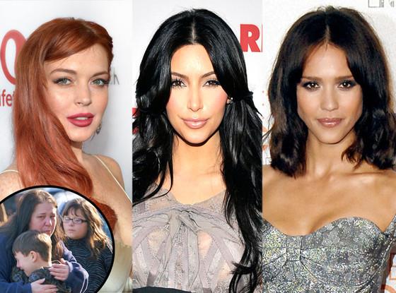 Jessica Alba, Lindsay Lohan, Kim Kardashian, Connecticut Shooting