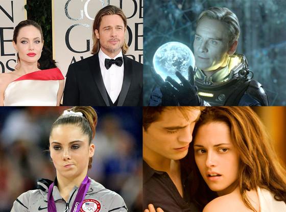 Brad Pitt, Angelina Jolie, McKayla Marony, Michael Fassbender, Kristen Stewart