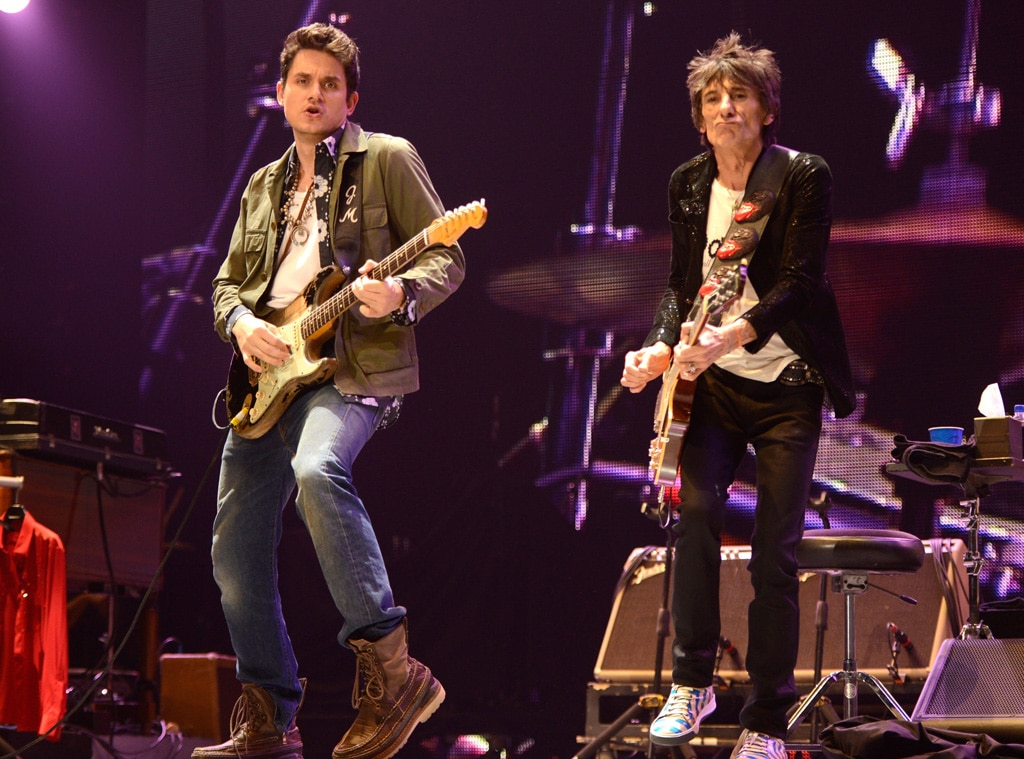 John Mayer, Ronnie Wood, Rolling Stones