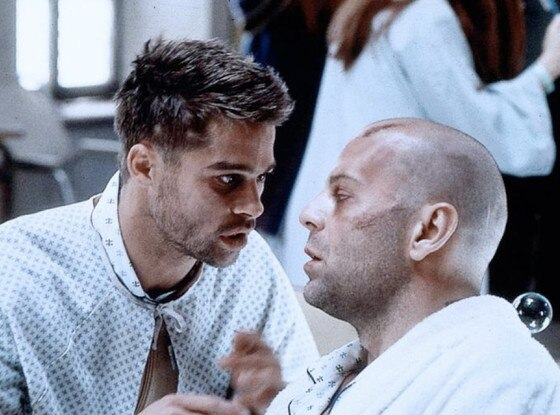 12 Monkeys, Brad Pitt, Bruce Willis