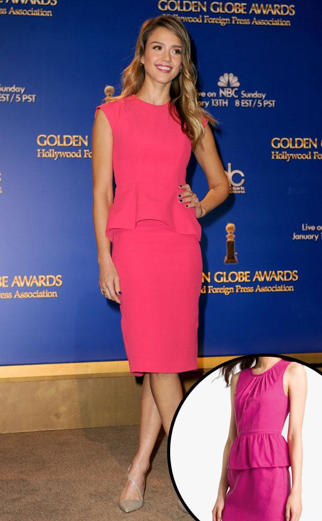 Jessica Alba, Pink Peplum