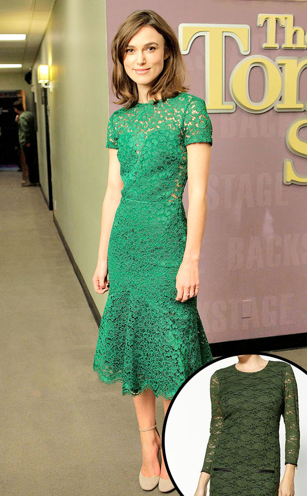 Keira Knightley, Green Lace Dress