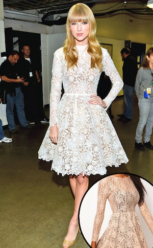 Taylor Swift, Scoop Back Sequin Lace Skater