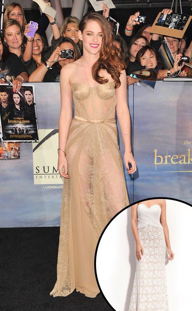 Kristen Stewart, Chiffon & Lace Strapless Gown