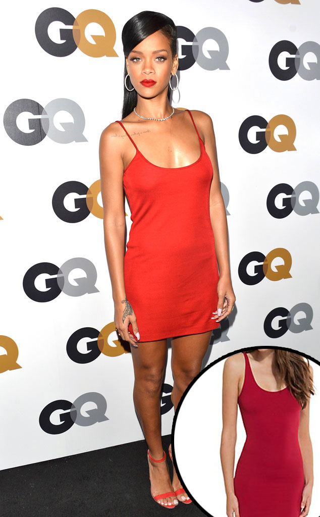 Rihanna, Red Tank Dress