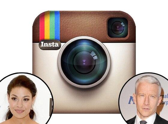 Instagram logo, Jordin Sparks and Anderson Cooper
