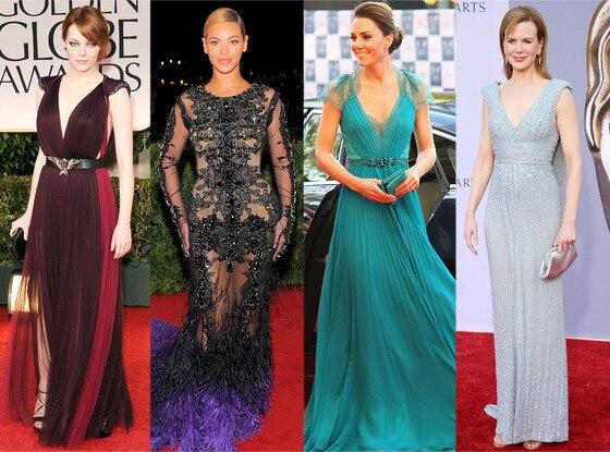 Emma Stone, Beyonce, Kate Middleton, Nicole Kidman