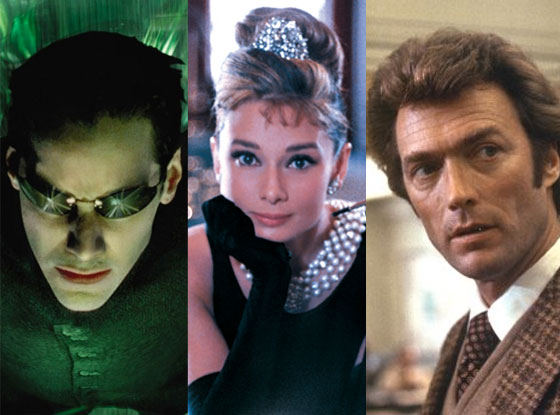 Breakfast at Tiffanys, Dirty Harry, Matrix