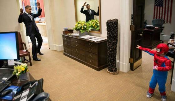 President Barack Obama, Spiderman Kid