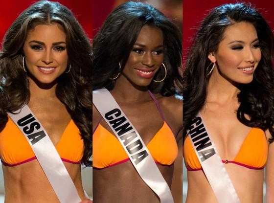 Miss Universe, Miss USA, Miss Canada, Miss China