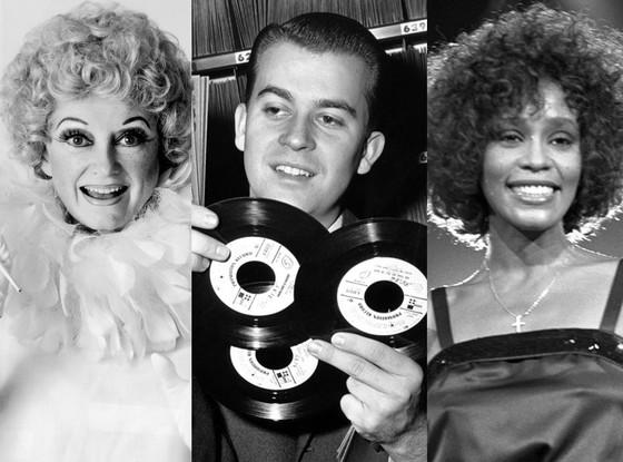 Whitney Houston, Dick Clark, Phyllis Diller