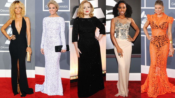Grammys Best Fashion 5-split Rihanna/Carrie Underwood/Adele/Kelly Rowland/Fergie