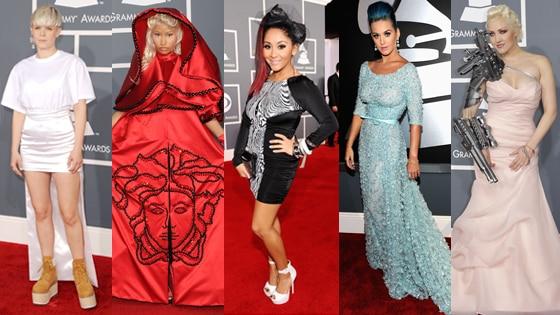 Grammys Worst Fashion 5-split Robyn/Nicki Minaj/Snooki/Katy Perry/Sasha Gradiva