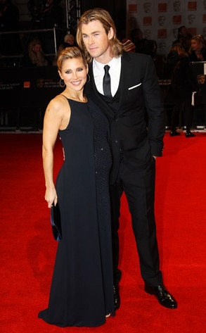 BAFTA Arrivals, Elsa Pataky, Chris Hemsworth