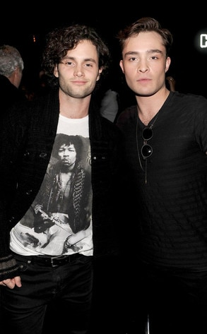 Penn Badgley, Ed Westwick, NY Fashion Week