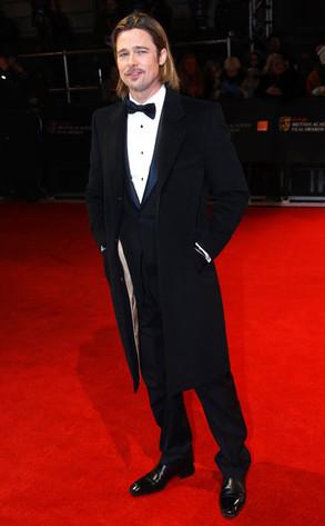 BAFTA Arrivals, Brad Pitt