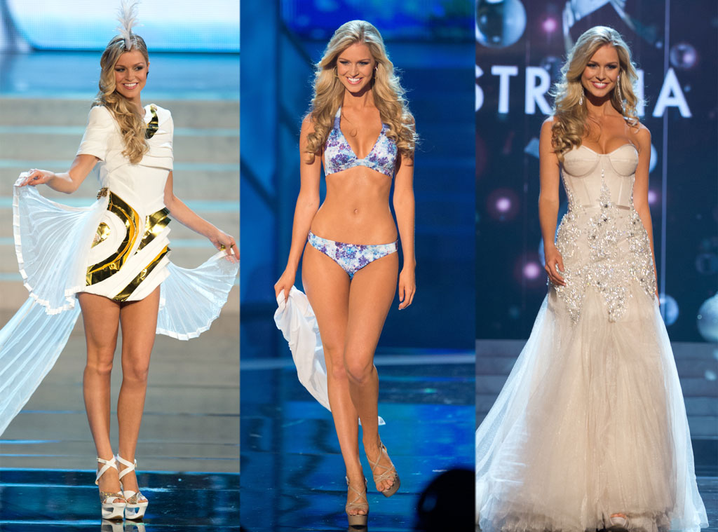 Miss Australia, Costume, Swimsuit, Gown