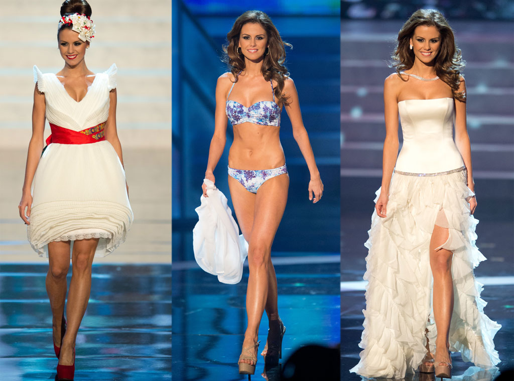 Miss Hungary, Costume, Swimsuit, Gown