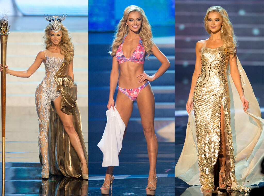 Miss South Africa, Costume, Swimsuit, Gown