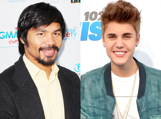 Manny Pacquiao, Justin Bieber