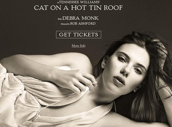 Scarlett Johansson, Cat on a Hot Tin Roof Poster