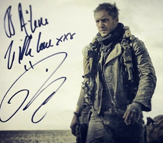 Tom Hardy, Mad Max, Twitter