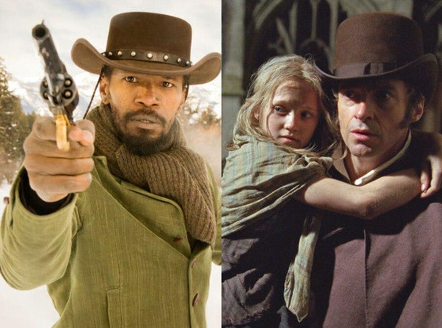 Jamie Foxx, Django Unchained, Les Miserables