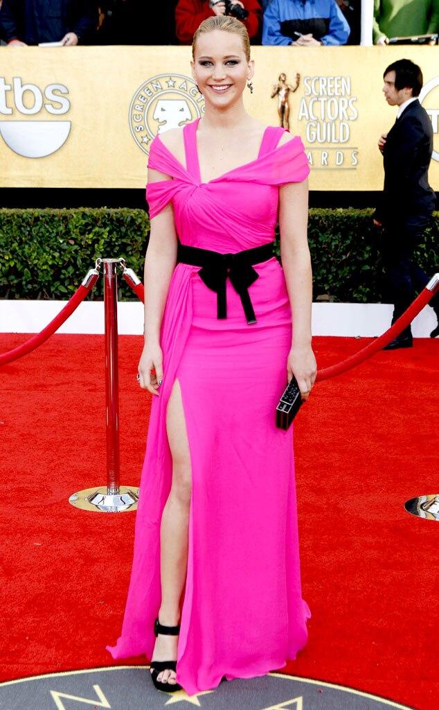Jennifer Lawrence, SAG Arrivals 2011, Oscar De La Renta