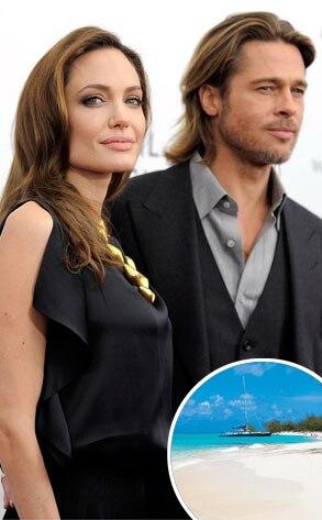 Angelina Jolie, Brad Pitt, Parrot Bay