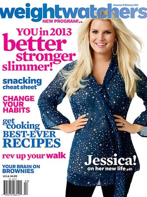 Jessica Simpson, Weight Watchers Magazine